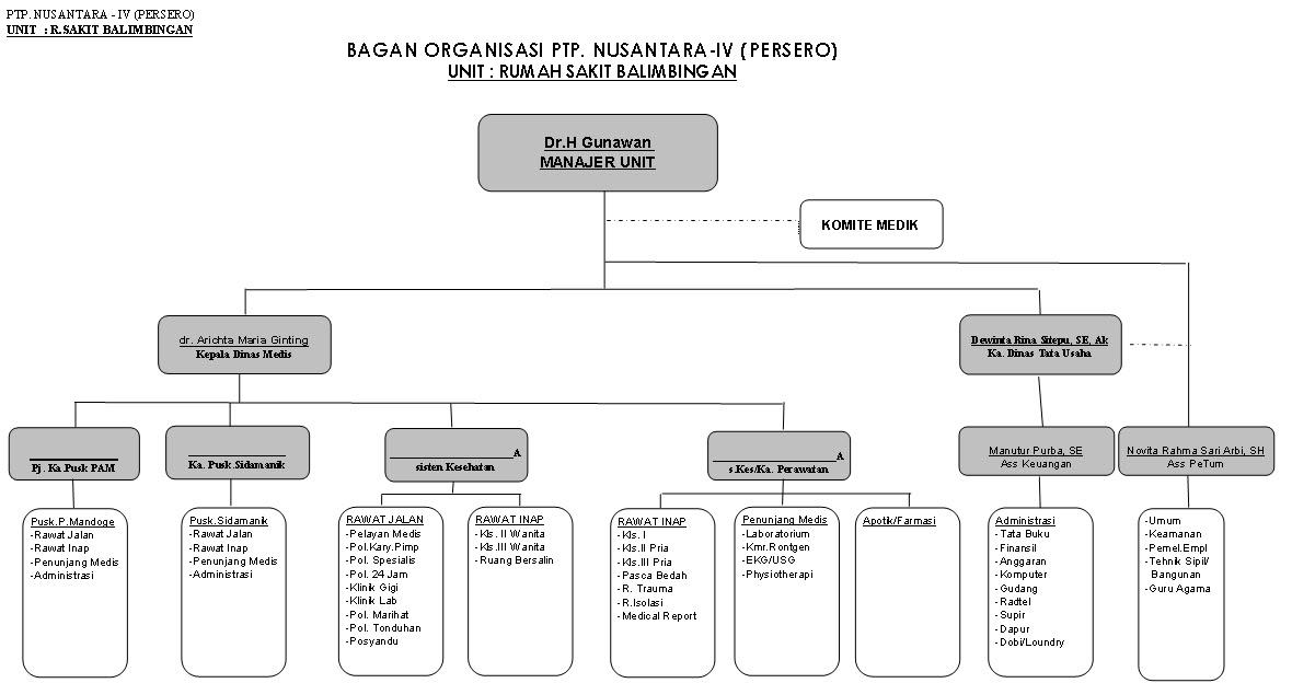 Struktur Organisasi BAGAN ORGANISASI RUMAH SAKIT