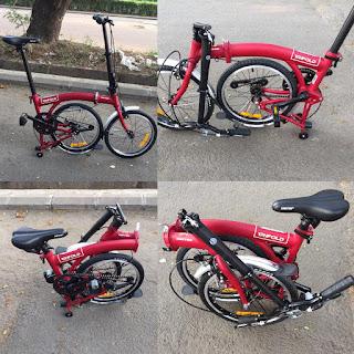 Sepeda Lipat Trifold 1 Speed looks like Brompton