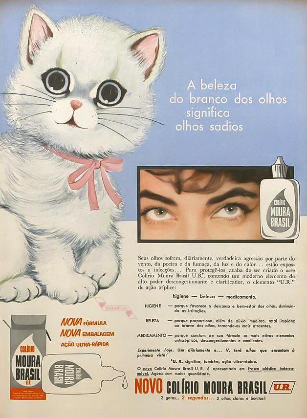 Anúncio do colírio Moura Brasil veiculado em revistas brasileiras em 1953