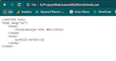 Contoh html salah extensi type