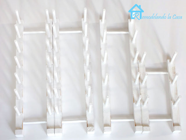 plate rack dimension - round and square dowels