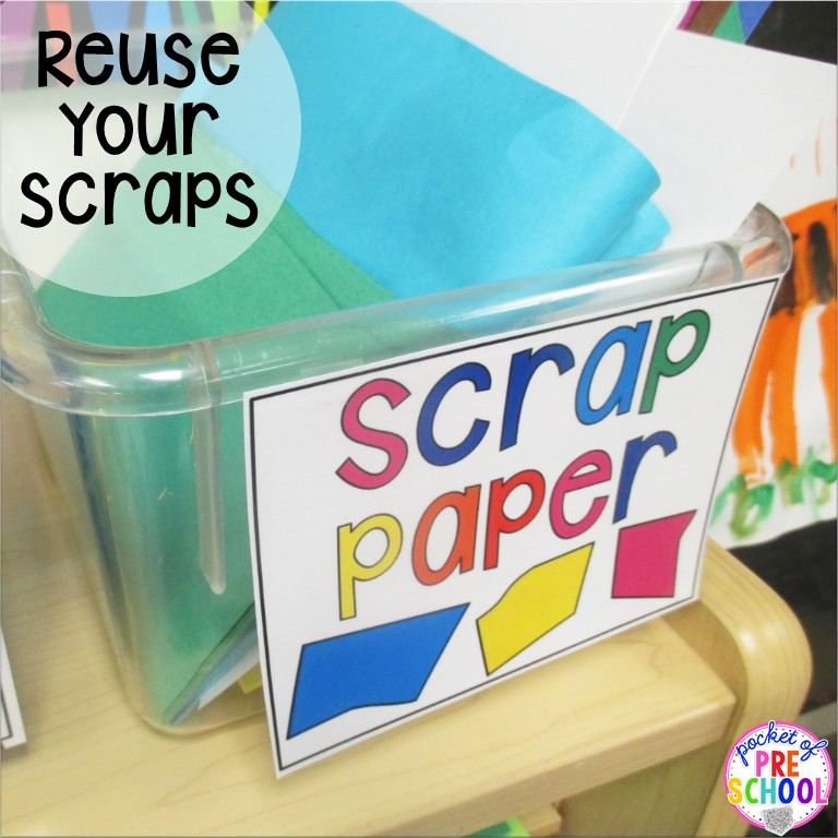 free labels extra lids paper scraps old markers pocket of