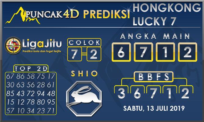 PREDIKSI TOGEL HONGKONG LUCKY7 PUNCAK4D 13 JULI 2019