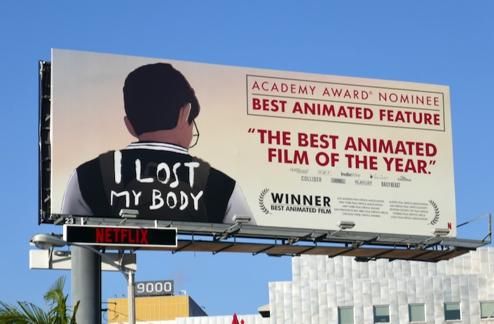 I Lost My Body Oscar nominee billboard