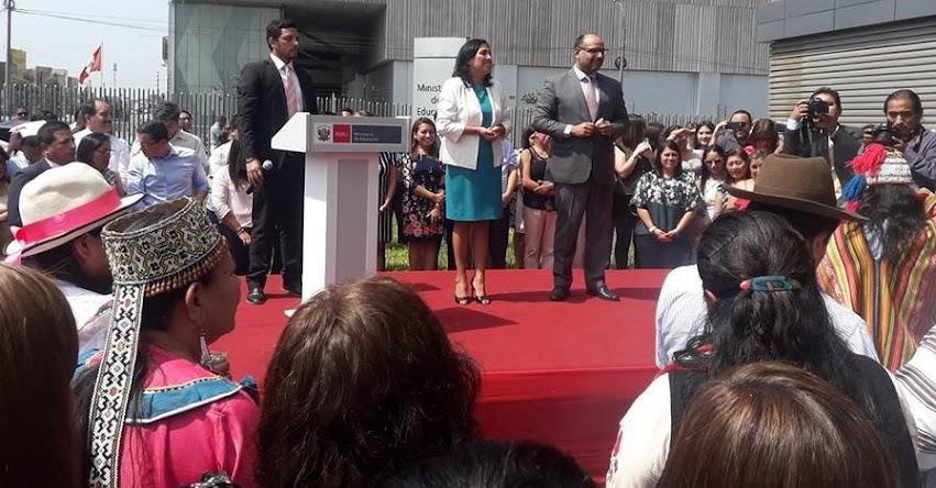 MINEDU: Trabajaremos a la par de los docentes, quienes concretan las políticas educativas (Flor Aideé Pablo Medina) www.minedu.gob.pe