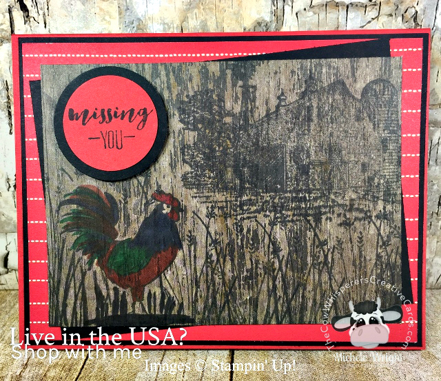 Card, Home To Roost, Heartland, Wood Textures Paper