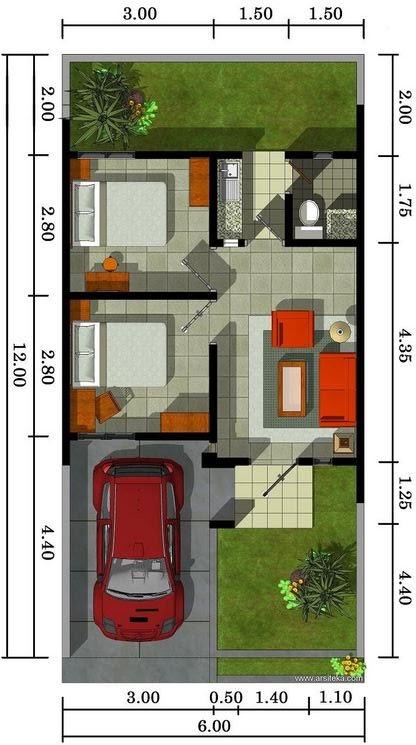 Pilihan Yang Tepat Denah Rumah Type 36 Contoh Pembagian ...