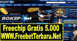 Freebet Gratis BokepBet Senilai 5.000