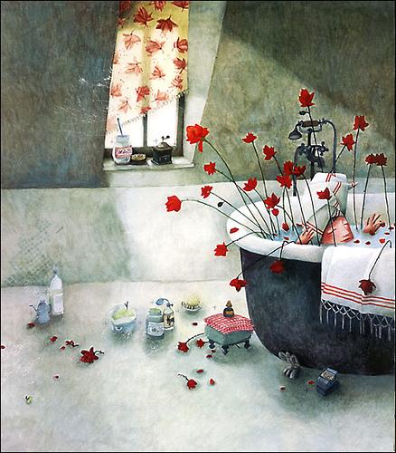 ilustración de gran belleza de Rébecca Dautremer del cuento de Philippe Lechermeier Princesas Olvidadas o desconocidas