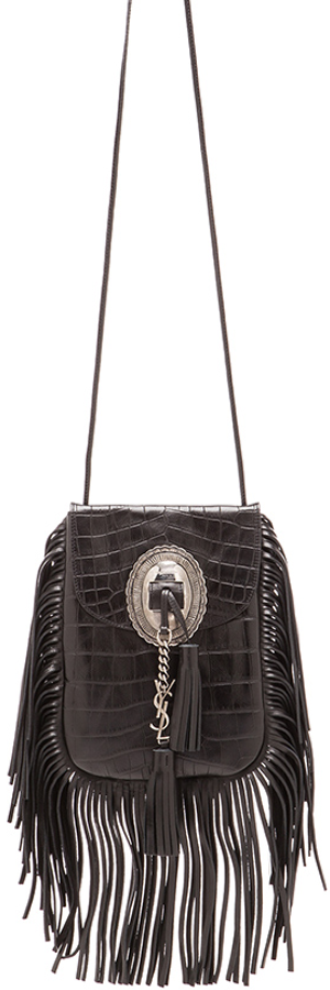 SAINT LAURENT CROC EFFECT ANITA BAG