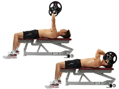 EZ-bar lying triceps extension
