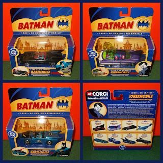 Batman & Robin; Batmobile; Comic Batman; Comic Characters; Corgi Die Cast Toys; DC Batman; DC Characters; DC Comic Characters; DC Comics; DC Joker; Die Cast Toys; Die-Cast Alloy; Die-cast Novelties; Joker; Jokermobile; Small Scale World; smallscaleworld.blogspot.com; The Batmobile; The Joker; The Jokermobile;