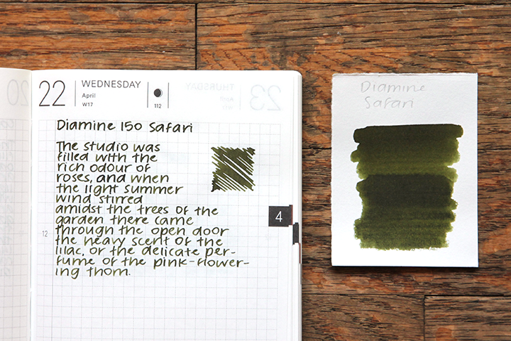 review: diamine 150th anniversary safari