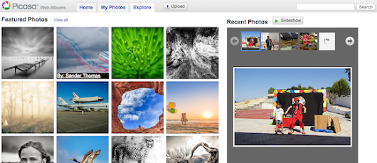 Picasa Web Albums, Back to the Future