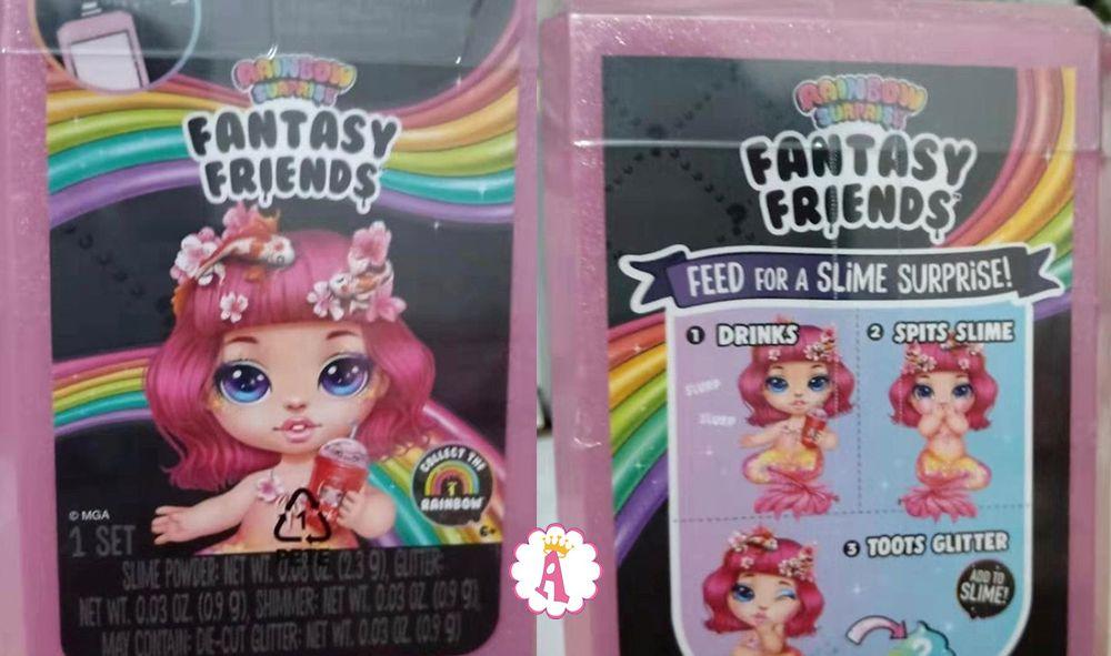 Пупсы Poopsie Rainbow Surprise Fantasy Friends со слаймом