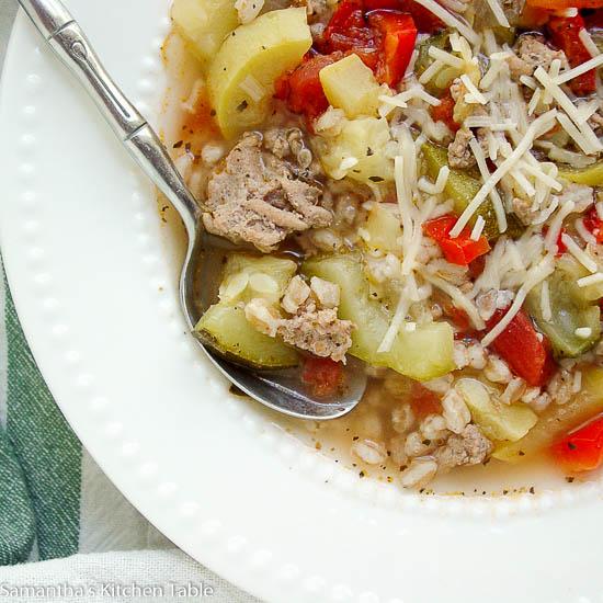 Healthy Turkey Farro Soup
