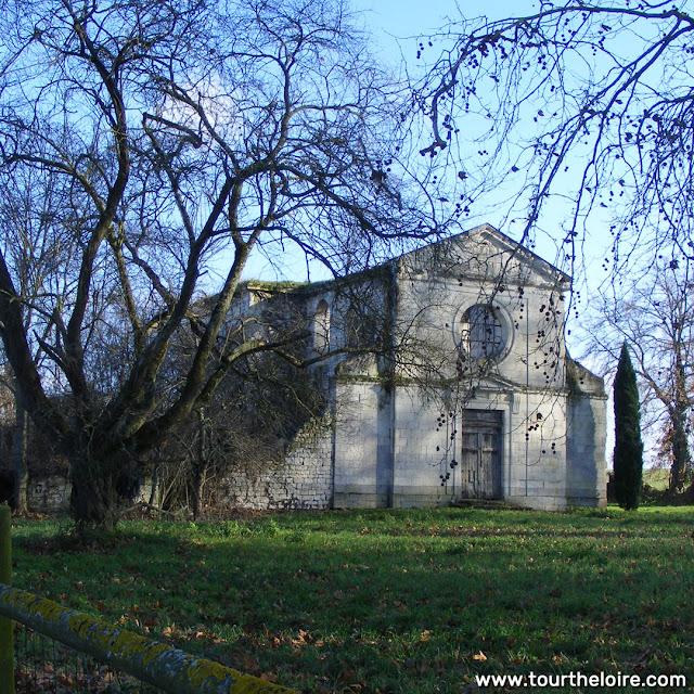 Church, Chateau d'Argenson, Indre et Loire, France. Photo by Loire Valley Time Travel.