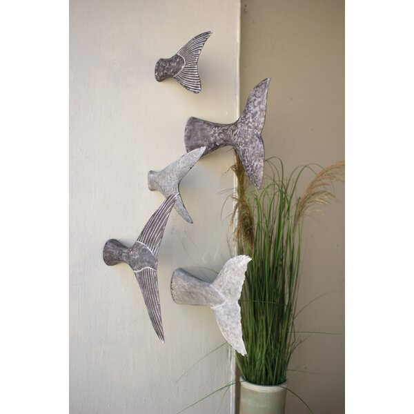 5 Piece Fish Tale Sculpture Wall Decor Set
