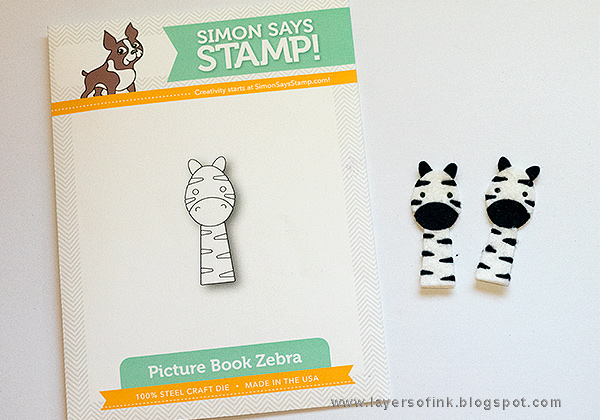 Layers of ink - Scalloped Zebra Cards Tutorial by Anna-Karin Evaldsson with SSS Picture Book Zebra