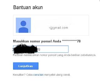 Riset Password Gmail