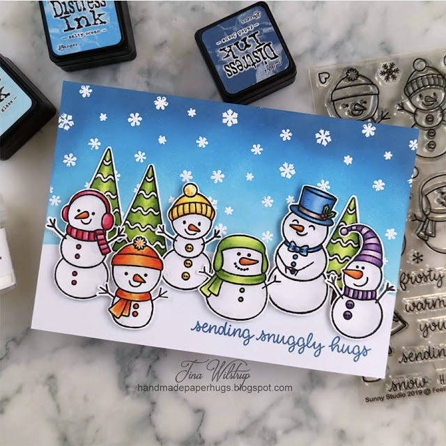Sunny Studio Stamps: Feeling Frosty Customer Card by Tina Wilstrup