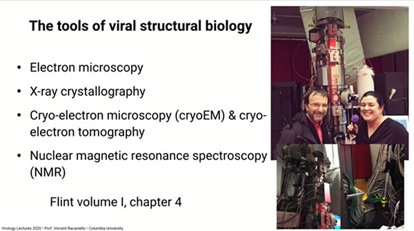 The tools of viral structural biology (Source: Vincent Racaniello, Columbia, U.)