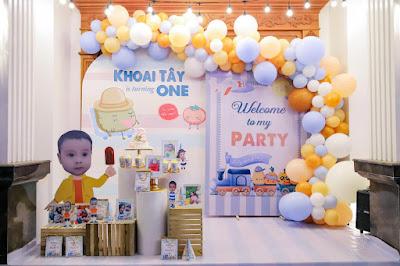 trang trí sinh nhật bé trai tại hoàng mai