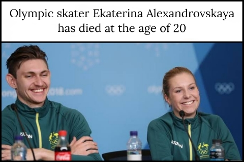 Olympic skater Ekaterina Alexandrovskaya has died at the age of 20