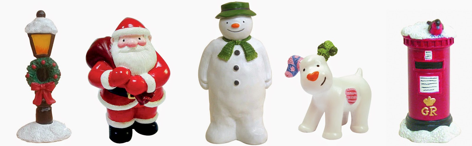 Traditional Postbox Christmas Cake Topper