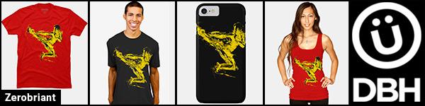 Zerobriant - Bruce Lee art DesignByHumans ad banner