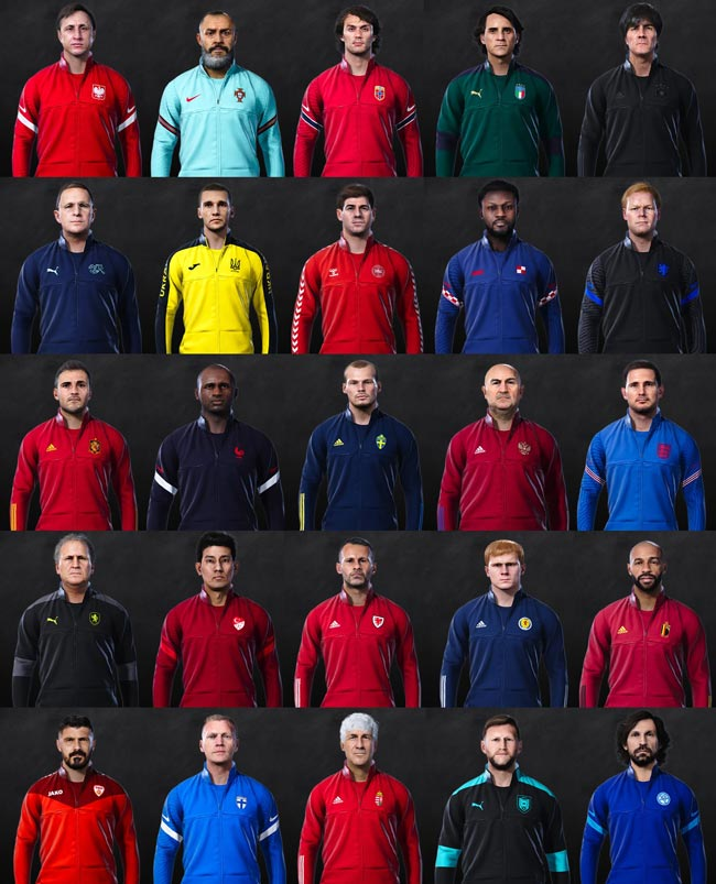 MLMyTeam Training Manager EURO 2020 Pack For eFootball PES 2021