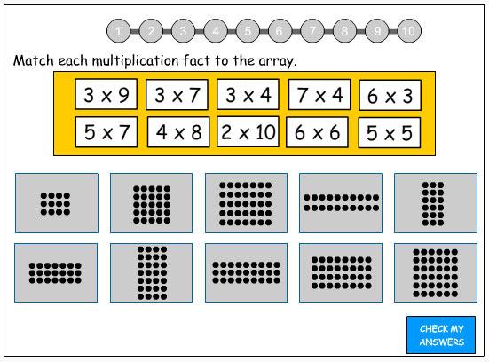 4th grade wise owls teachertube using arrays to solve multiplication facts. Black Bedroom Furniture Sets. Home Design Ideas