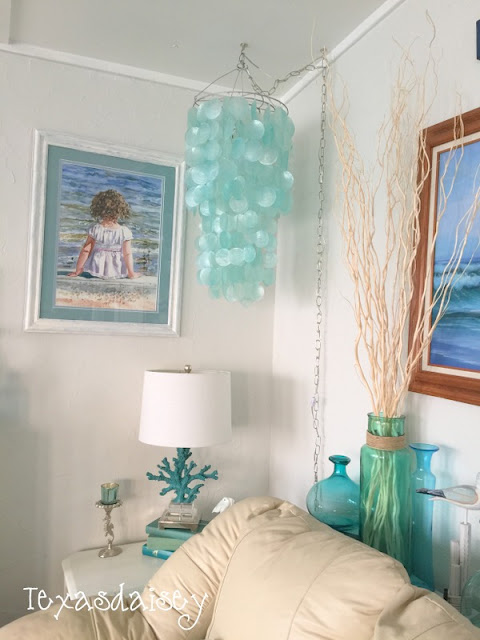 DIY a capiz shell chandelier on a budget