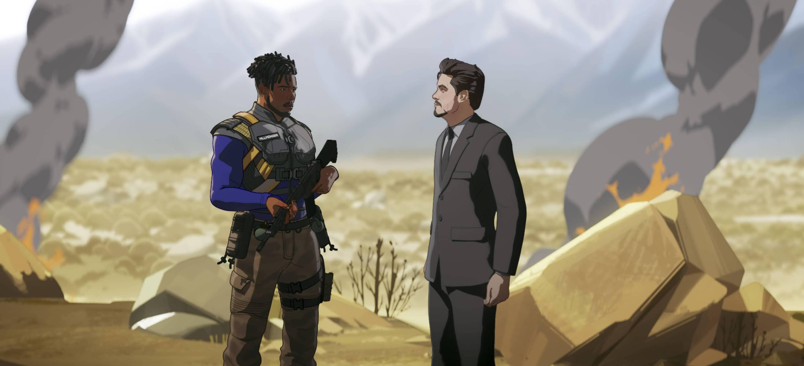 Killmonger rescata a Tony Stark en What If...?