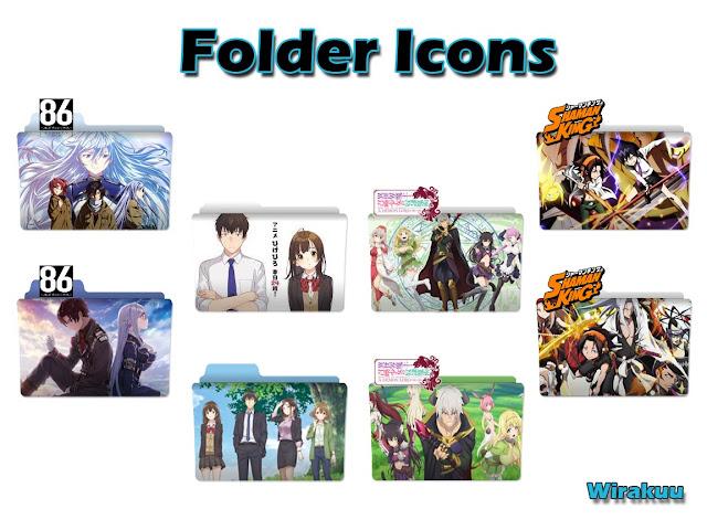 Folder Icon Anime Spring 2021 Pack 2
