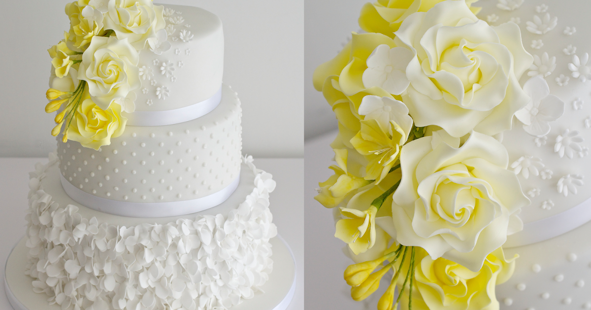 wedding cakes yellow yellow wedding cake 26161