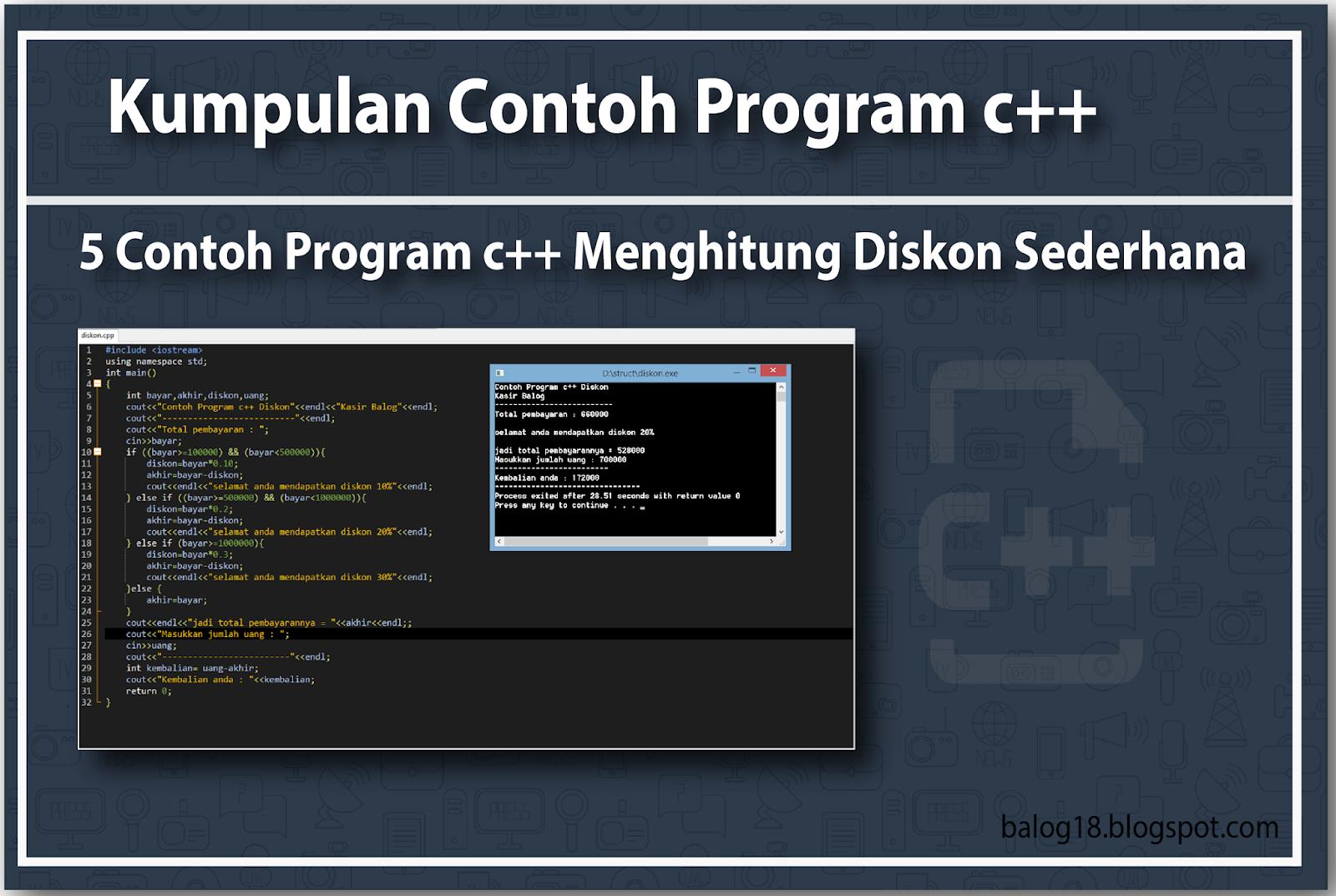 Cara membuat diskon yang menarik,5 contoh program c menghitung diskon