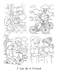 preschool coloring pages friends | LDS ACTIVITY IDEAS: I Can Be A Friend {Lesson Helps}