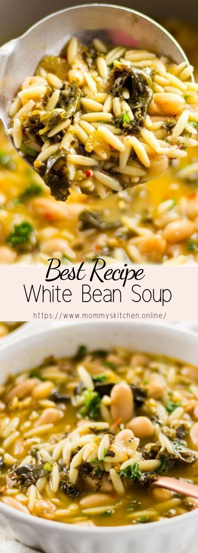 White Bean Soup #vegan #recipevegetarian