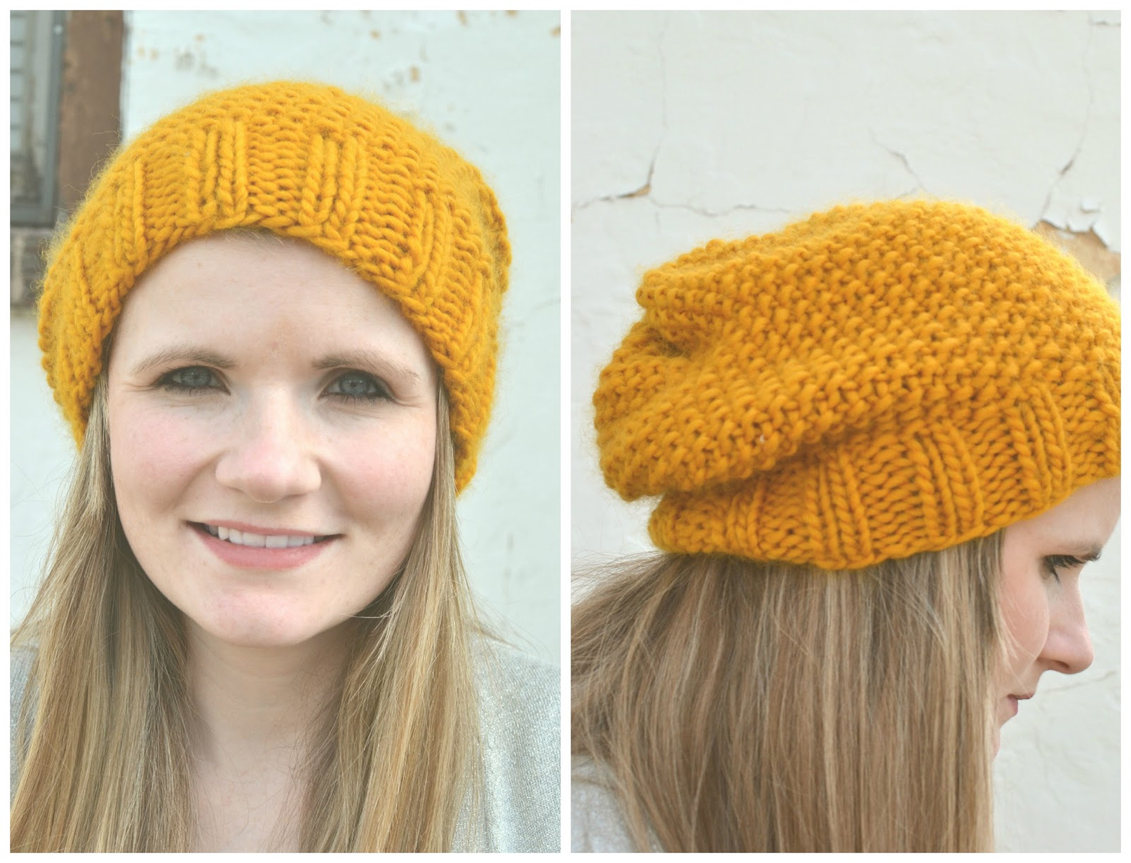 Little Bird With a French Fry: Knitted Slouchy Beanie Free ...