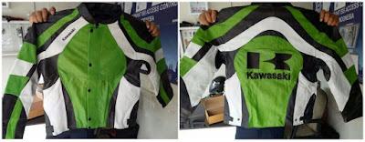 Gambar Jaket Kulit Kawasaki KLX