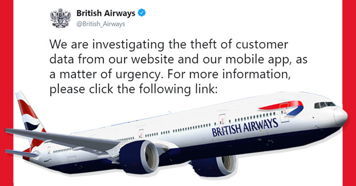 British Airways Hacked – 380,000 Payment Cards Compromised