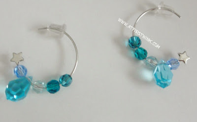 handmade swarovski earrings aqua colors