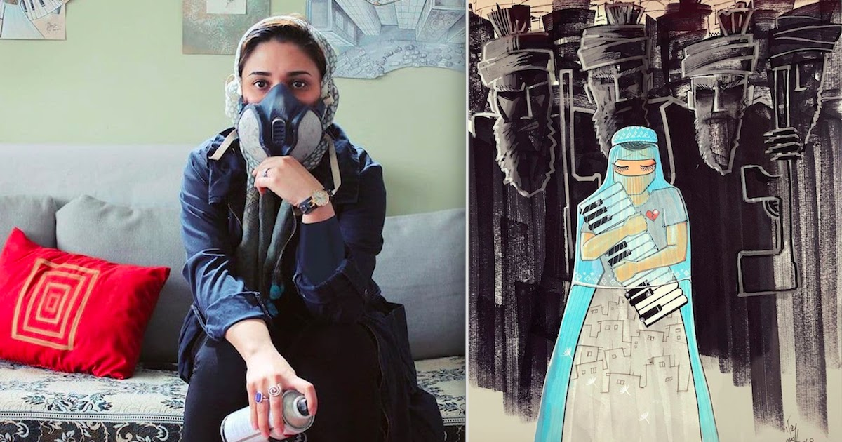 Shamsia Hassani, Afghanistan's First Female Street Artist Creates Heartbreaking Images To Speak Out About The Taliban Regime Against Women