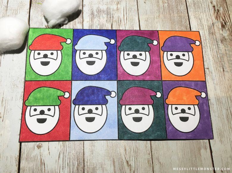 Santa pop art craft