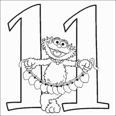 Coloring Pages for Kids: Funny Number Eleven Coloring Pages