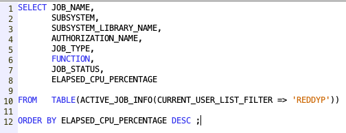 Work with Active Jobs from SQL - IBM i