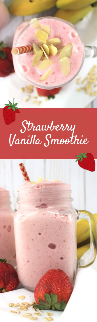 Strawberry Vanilla Smoothie #drink #vanillasmothie
