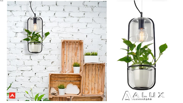 Hanging Plants With Lighting Sketchup Model , 3d free , sketchup models , free 3d models , 3d model free download