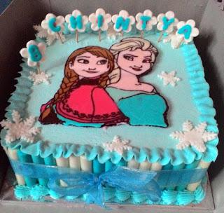 cake tema frozen